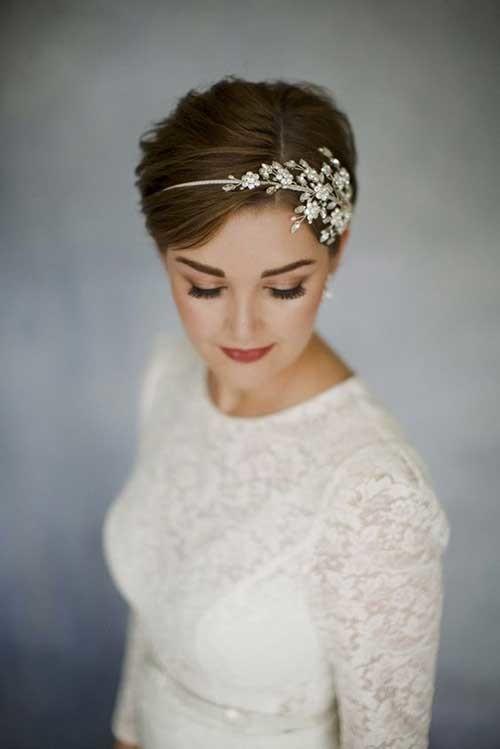 Vintage-Wedding-Hair Most Beautiful Short Hairstyles for Weddings