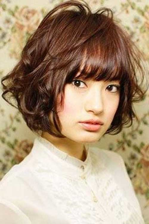 Wavy-Short-Hair-for-Asian-Chubby-Faces Short Haircuts For Chubby Faces
