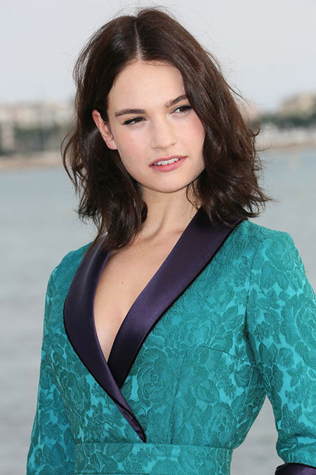 11-Lily-James-Natural-Hair-Color-750 Short Messy Haircuts
