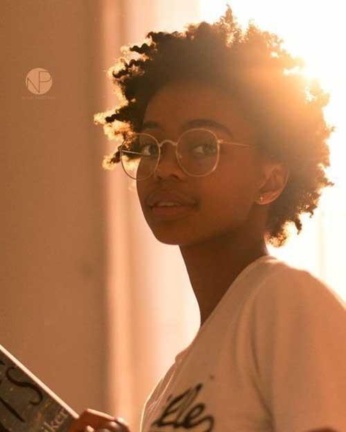 Afro-Textured-Hair Natural Short Hair Ideas for Cute Ladies