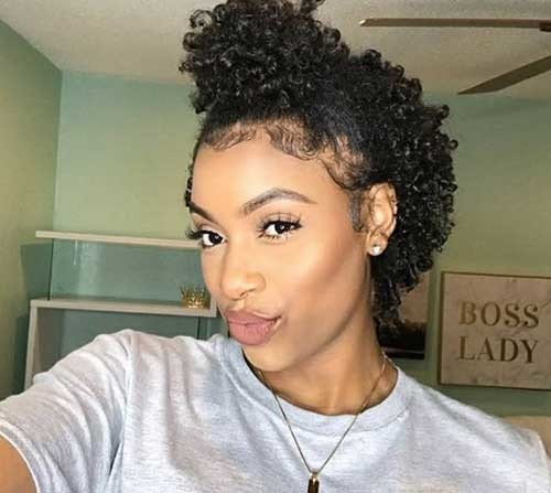 Black-Girl-Short-Hair Natural Short Hair Ideas for Cute Ladies