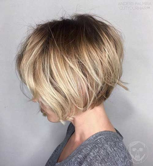 Blonde-Balayage Best Short Bob Haircuts for Women