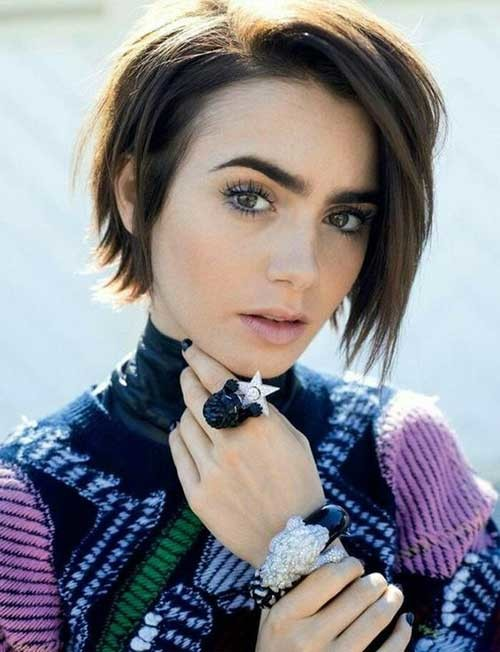 Bob-with-Dark-Roots Best Short Bob Haircuts for Women