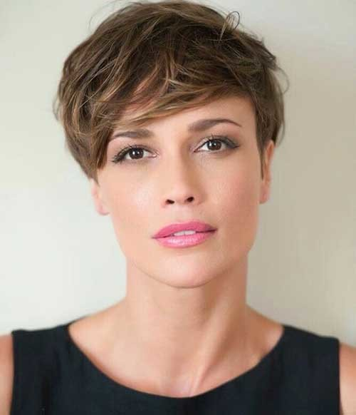 Cute-Pixie-Hair-1 2018 Latest Layered Short Haircuts for Round Faces
