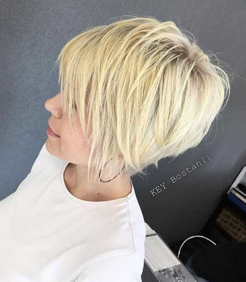 Easy-Short-Pixie-Bob-Hairstyle Latest Short Hairstyles with Fine Hair