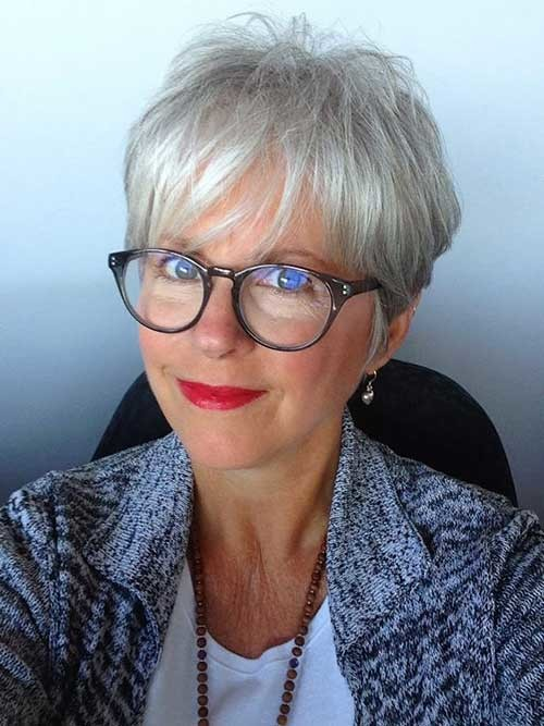 Fine-Short-Hair-for-Older-Women Classy Pixie Haircuts for Older Women