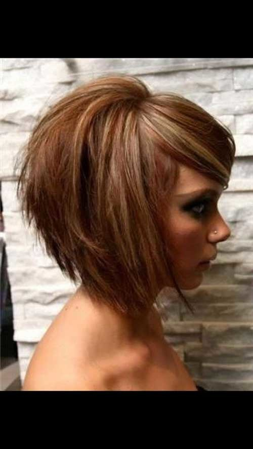 Layered-Bob-Cut 2018 Latest Layered Short Haircuts for Round Faces
