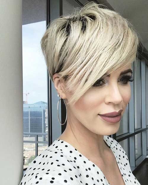 Long-Side-Bangs Latest Short Hairstyles with Fine Hair