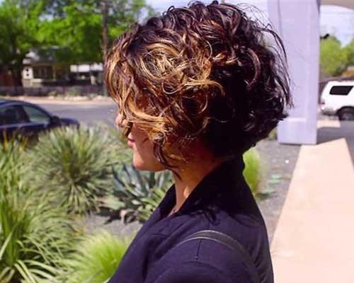 Modern Curly Short Haircut