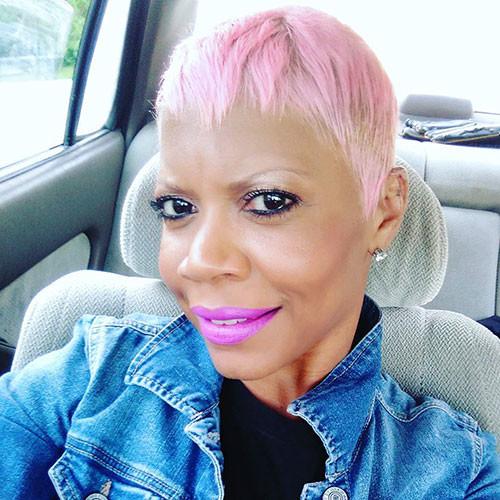 Pink-Hair Best Short Pixie Hairstyles 2018