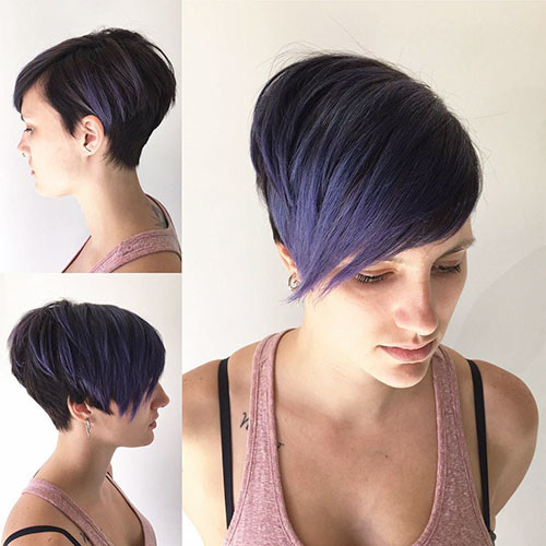 Pixie-Fall-Hair-Color Best Short Pixie Hairstyles 2018