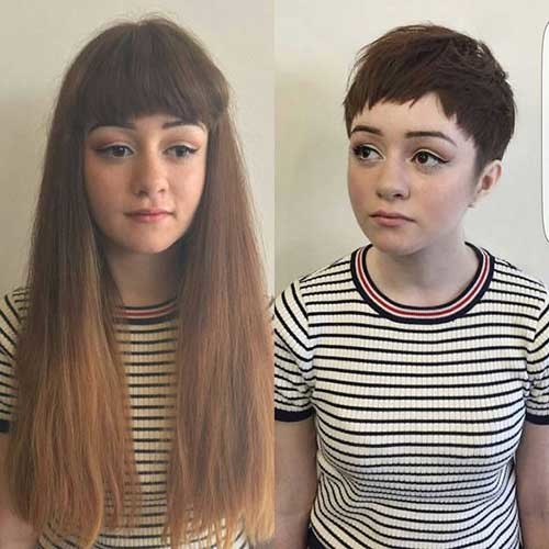 Pixie-Hair Before and After Pics of Short Haircuts