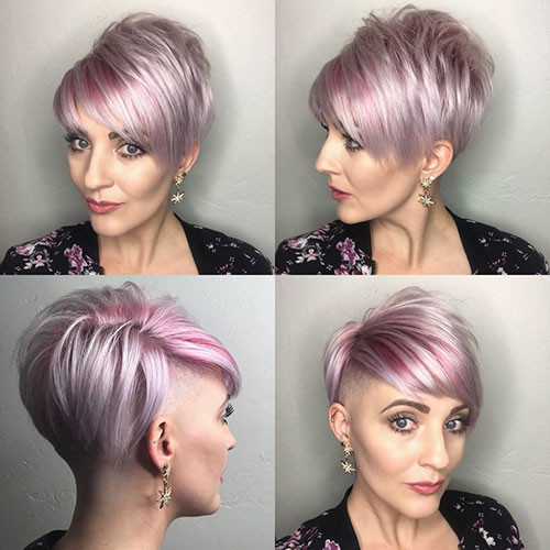 Side-Shaved-Pixie-Cut Best Short Pixie Hairstyles 2018