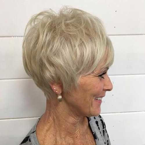 Too-Short-Pixie Classy Pixie Haircuts for Older Women