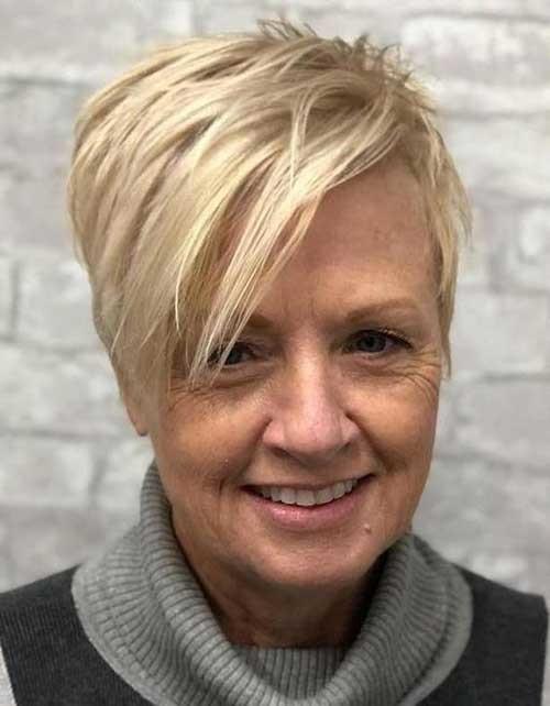 Undercut-for-Older-Women Classy Pixie Haircuts for Older Women
