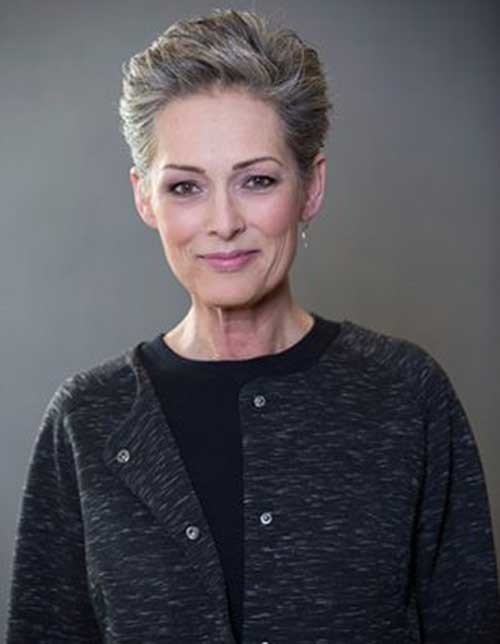 Very-Short-Classy-Hair Classy Pixie Haircuts for Older Women