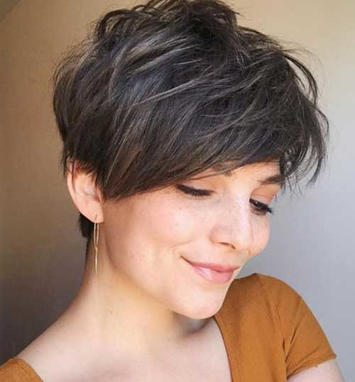 2018-Pixie-Cut-Brown Best Short Haircuts for 2018-2019