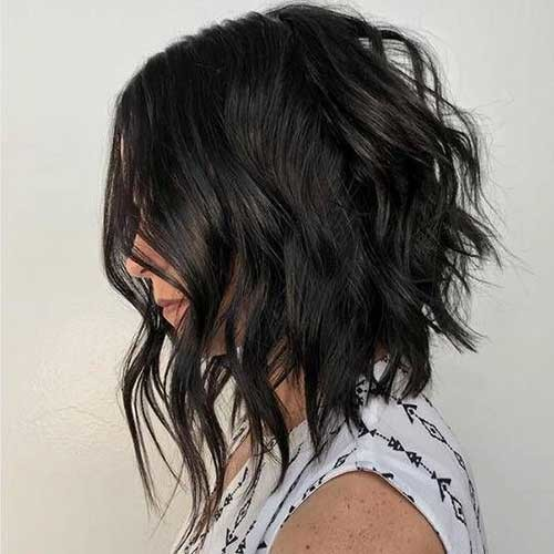 Angled-Bob-with-Long-Layers Outstanding Short Haircuts for Women