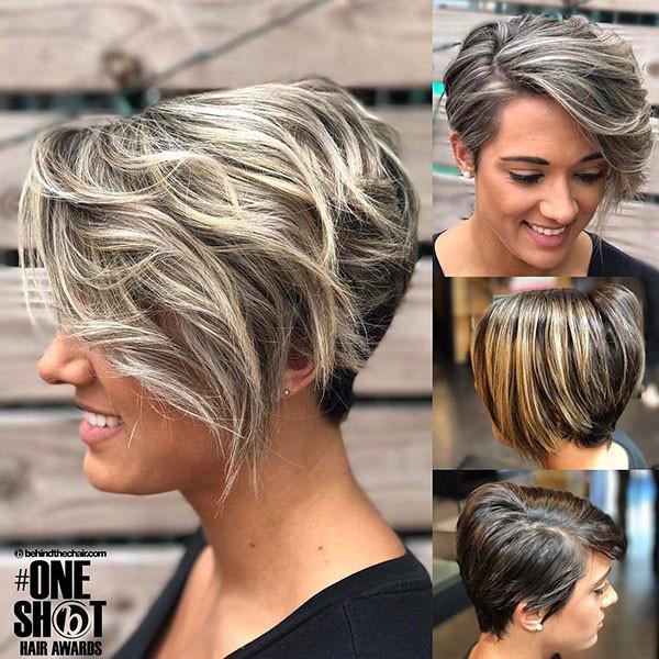 Blonde-Balayage-Pixie-Cut Best Pixie Cut 2019