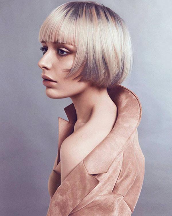 Blonde-Bob-Hair-1 Short Hairstyles with Bangs 2019