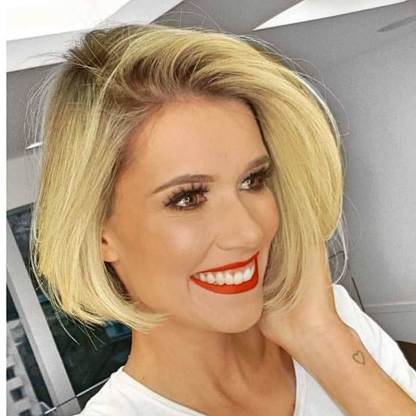 Blonde-Bob-Hair Best New Bob Hairstyles 2019