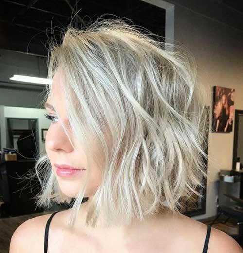 Blonde-Lob-Thin-Hair Best Short Haircuts for 2018-2019