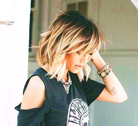 Blonde-Ombre Hair Color Ideas for Short Haircuts