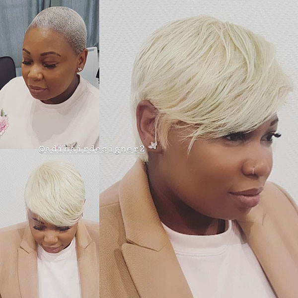 Blonde-Pixie-Hair-1 Short Haircuts for Black Women 2019