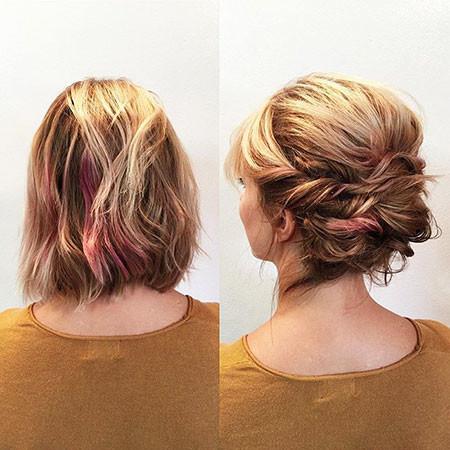 Blonde-Updo-Hair Upstyles for Short Hair