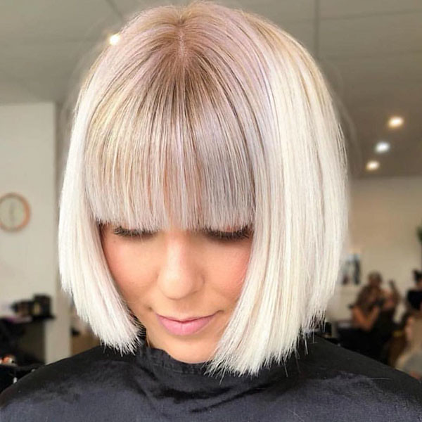 Bob-Hair-with-Bangs Best New Bob Hairstyles 2019