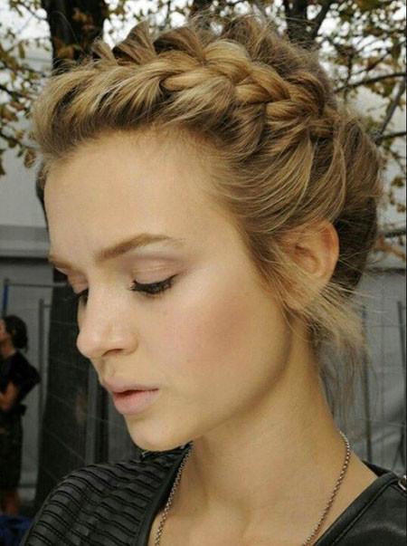 Braided-Hair Upstyles for Short Hair