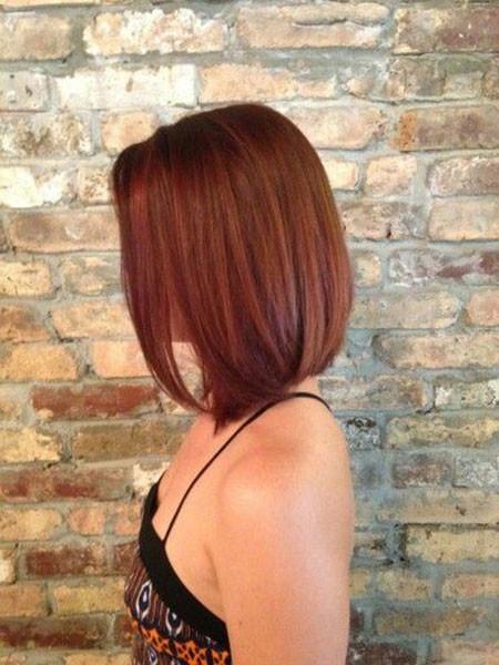 Burgundy-Bob-Hair Popular Short Haircuts 2018 – 2019
