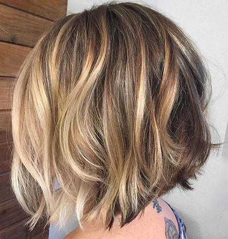 Caramel-Balayage-Short-Bob Popular Short Haircuts 2018 – 2019
