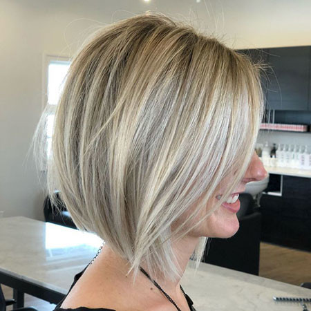 Classic-Blonde-Bob-Hairstyle Popular Short Haircuts 2018 – 2019
