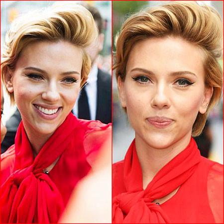 Classy-Blonde-Hair Scarlett Johansson Short Hairstyles