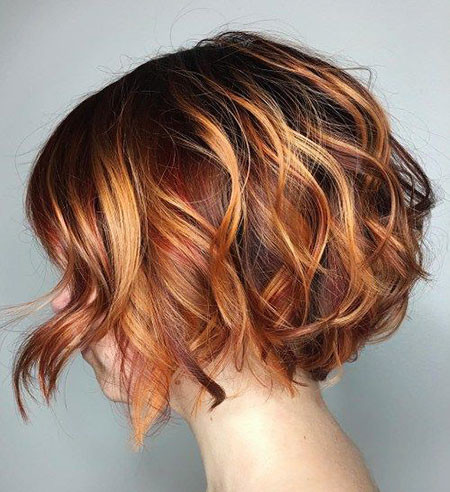 Curly-Bob Short Bob Haircuts 2019