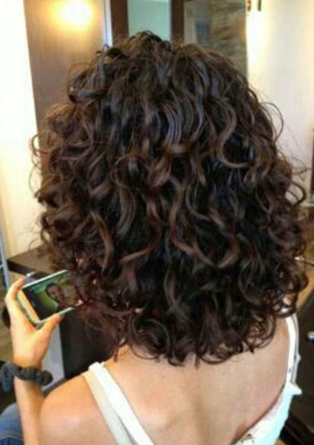 Curly-Hair-Layers-Short Popular Short Curly Hairstyles 2018 – 2019