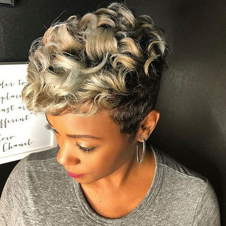 Curly-Hair Best Short Pixie Hairstyles for Black Women 2018 – 2019