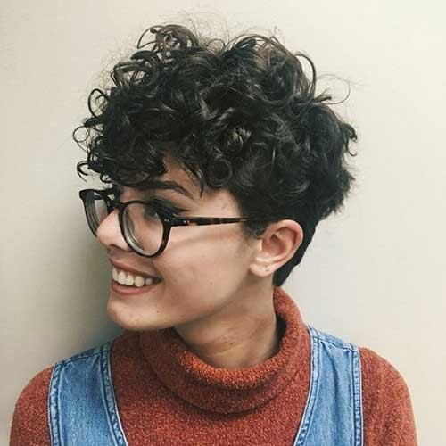 Curly-Pixie-Undercut Best Short Haircuts for 2018-2019