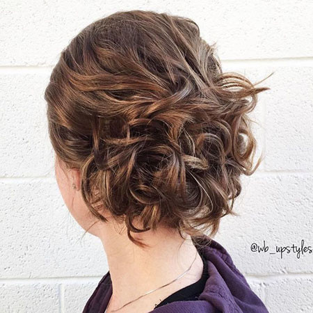 Curly-Updo-for-Short-Hair Wedding Hairstyles for Short Hair