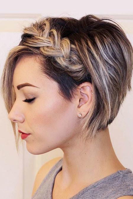 Cute-Short-Braid-Style Popular Short Haircuts 2018 – 2019
