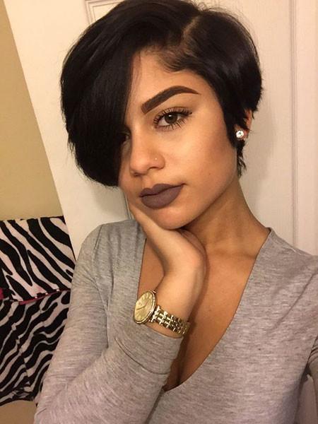 Cute-Short-Hairstyles-On-Black-Woman Best Short Hairstyles for Black Women 2018 – 2019