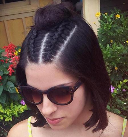 Double-Dutch-Braid-Bun Hair Buns for Short Hair