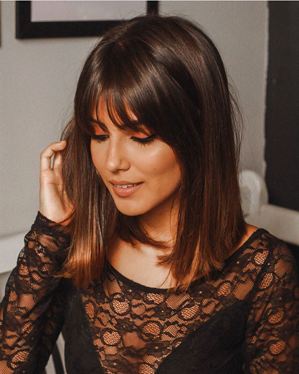 Fine-Hair Short Hairstyles with Bangs 2019