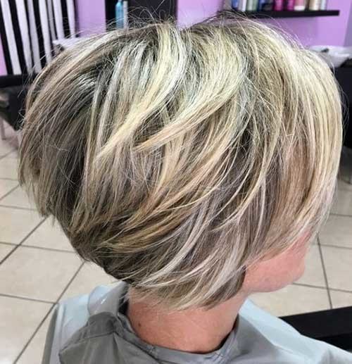 Highlighted-Short-Hair Best Short Haircuts for 2018-2019