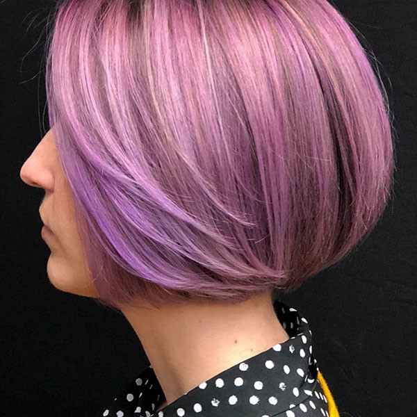 Lavender-Bob-Hair Best New Bob Hairstyles 2019