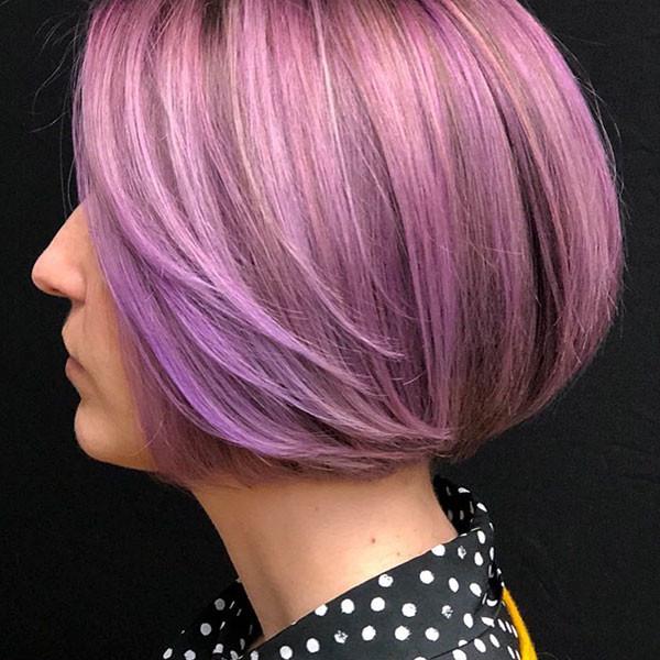 Lavender-Bob-Hair Best New Bob Hairstyles 2019