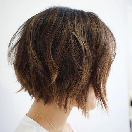 Layered-Angled-Bob Short Bob Haircuts 2019