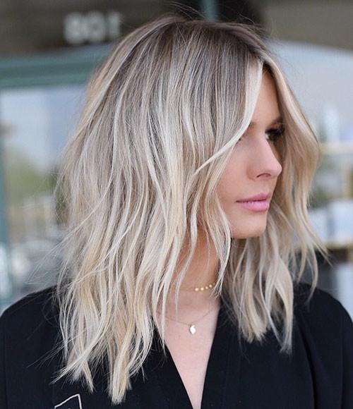 Layered-Blonde-Hair Popular Short Haircuts 2018 – 2019