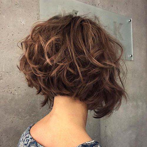 Layered-Curly-Hair Short Layered Haircuts 2018 – 2019